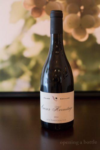 """2014 Julien Cécillon Crozes-Hermitage """"Les Marguerites"""" ©Kevin Day/Opening a Bottle"""