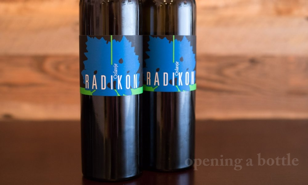 The 2009 Radikon Oslavje is an orange wine made with Chardonnay, Pinot Grigio and Sauvignon Blanc. ©Kevin Day / Opening a Bottle