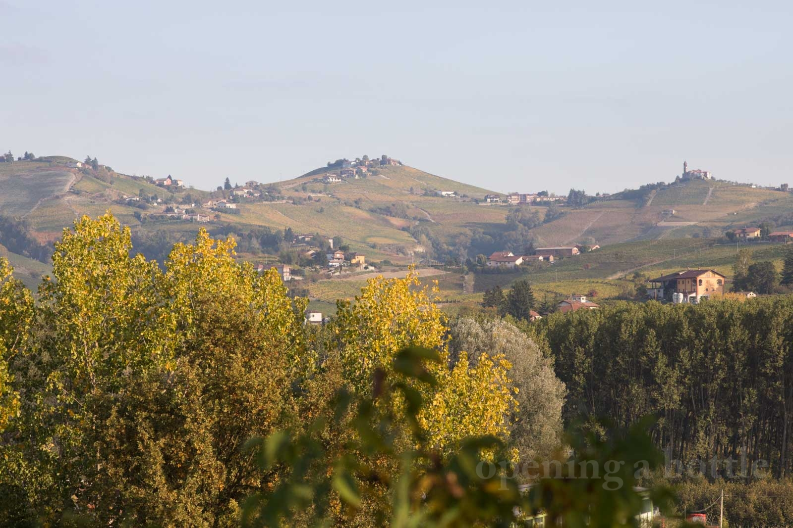 Our view of the Barbaresco hills from our little Langhe hideaway. ©Kevin Day/Opening a Bottle