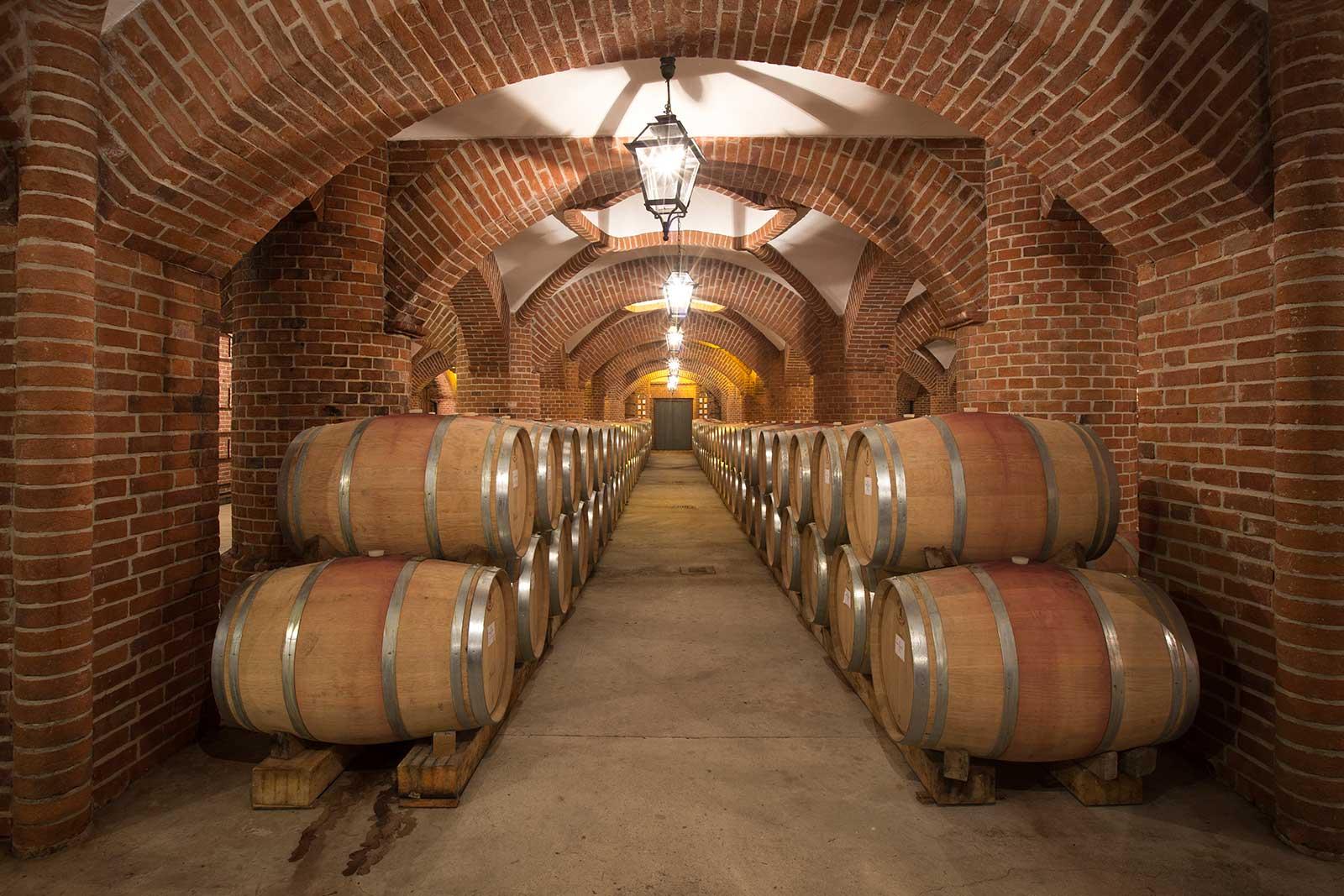 Rocche dei Manzoni's wine cellar. © Rocche dei Manzoni