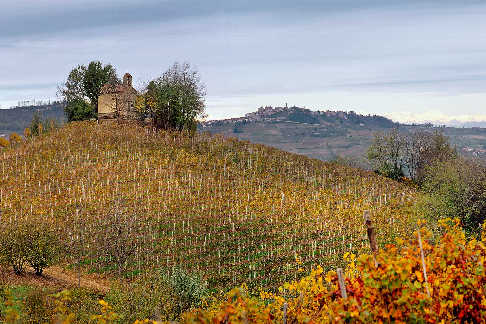 The Santo Stefano chapel in the Perno cru of Barolo. © Rocche dei Manzoni