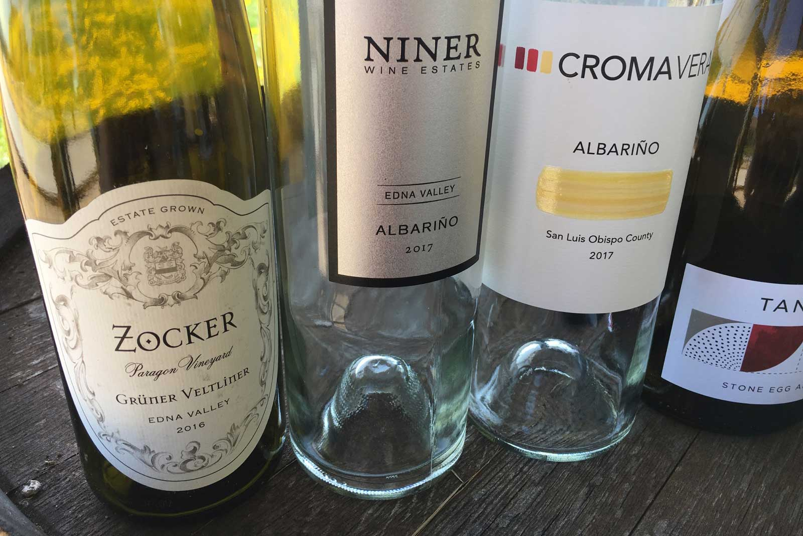 A few more of the aromatic white wines I sampled in April, including Mindy Oliver's Croma Vera Albariño. ©Kevin Day/Opening a Bottle