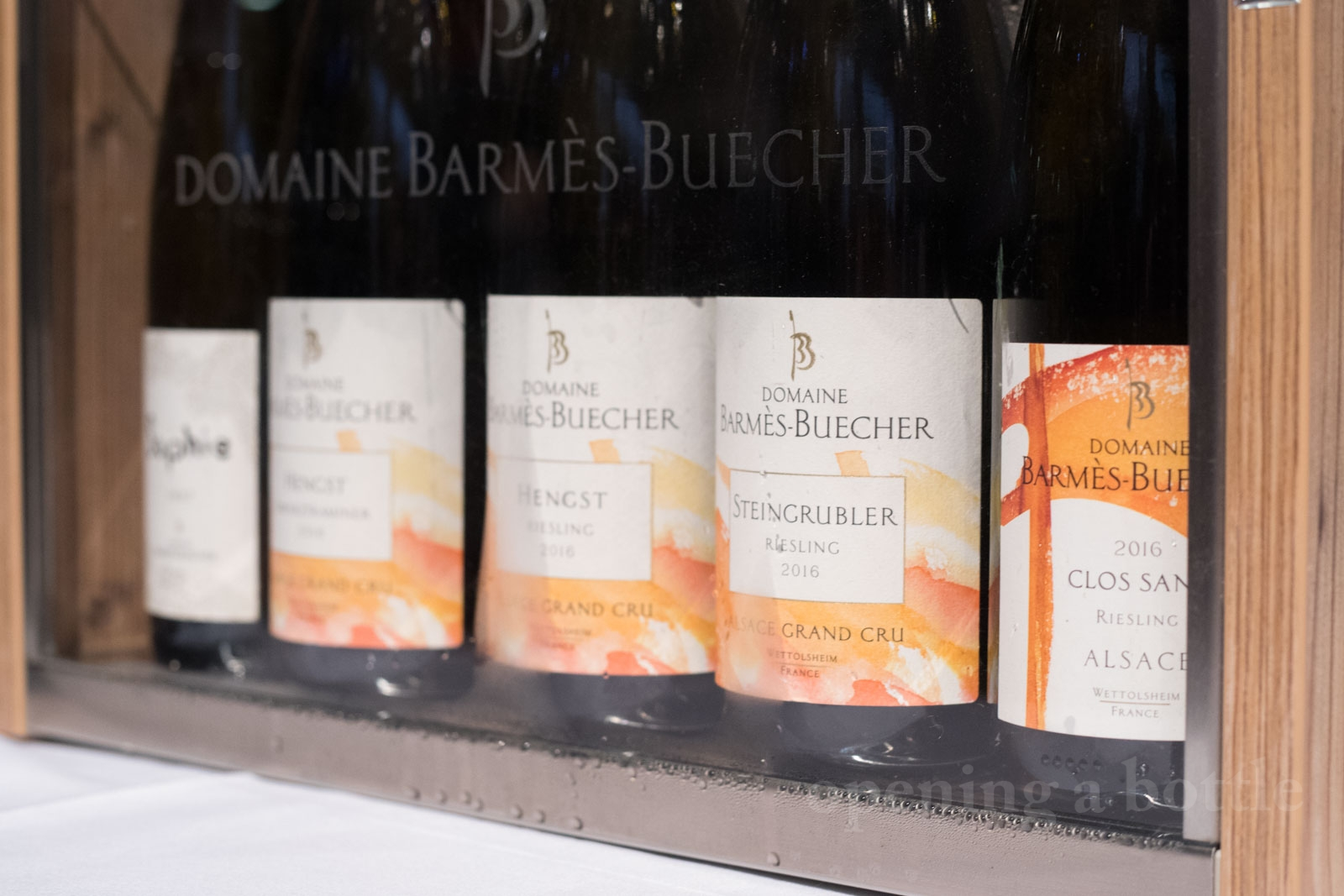 The wines of Barmès-Buecher. ©Kevin Day/Opening a Bottle
