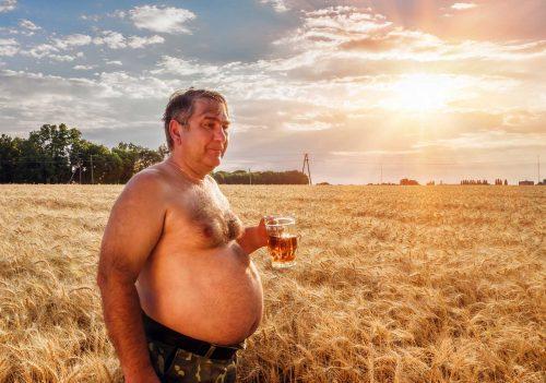 Typical beer drinker.