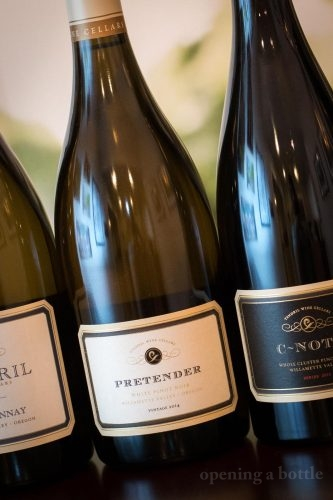 "Tendril Wine Cellars ""Pretender"" White Pinot Noir ©Kevin Day/Opening a Bottle"