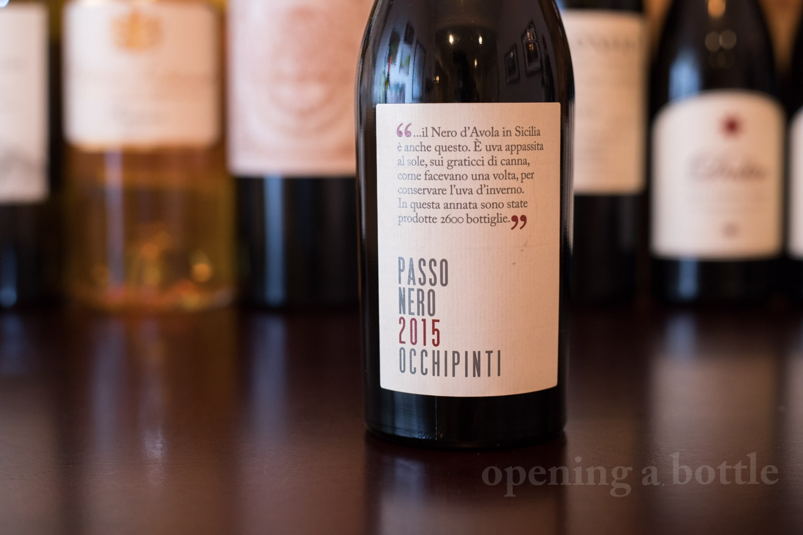 2015 Arianna Occhipinti Passo Nero ©Kevin Day/Opening a Bottle