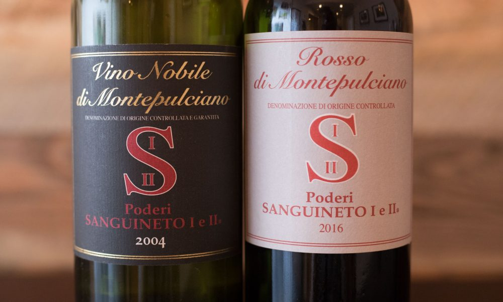 The wines of Poderi Sanguineto, ©Kevin Day/Opening a Bottle