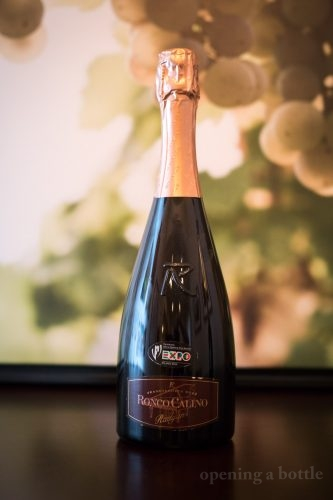 "NV Ronco Calino Rosé ""Radyna"" Franciacorta Brut ©Kevin Day/Opening a Bottle"
