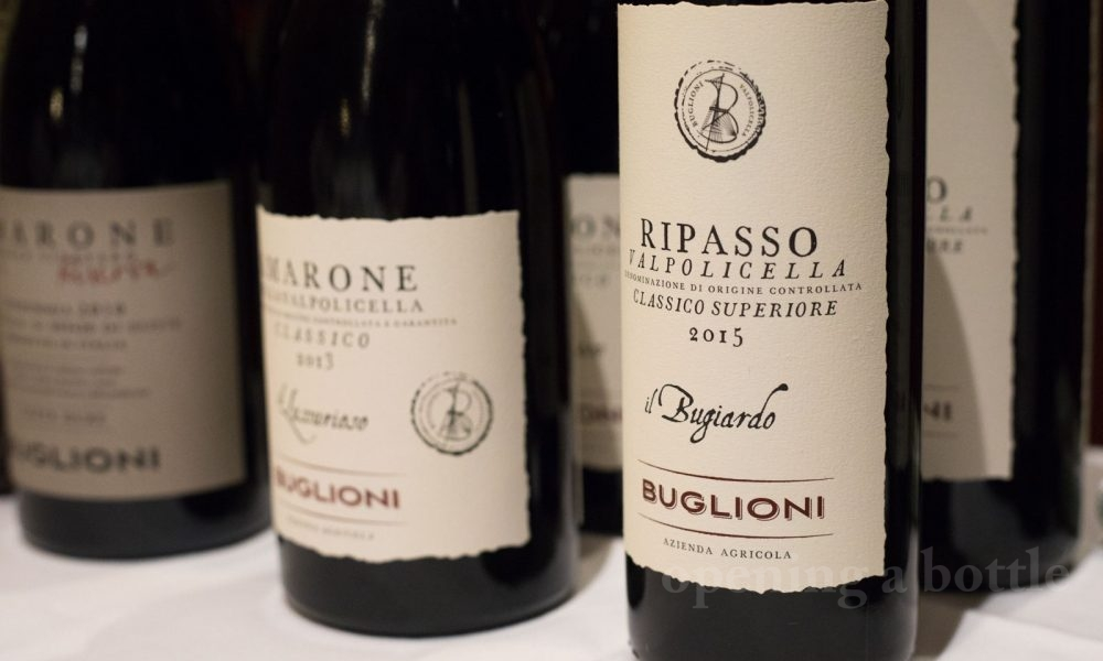 The wines of Azienda Agricola Buglioni, Valpolicella, Italy. ©Kevin Day/Opening a Bottle