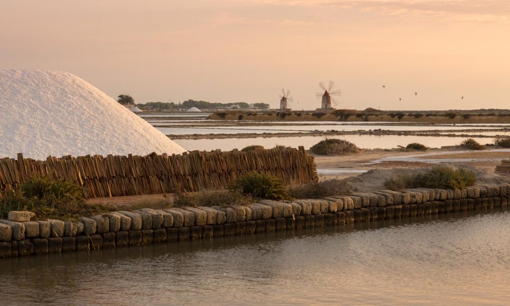 The salt marshes of Trapani at sunset. ©Kevin Day/Opening a Bottle