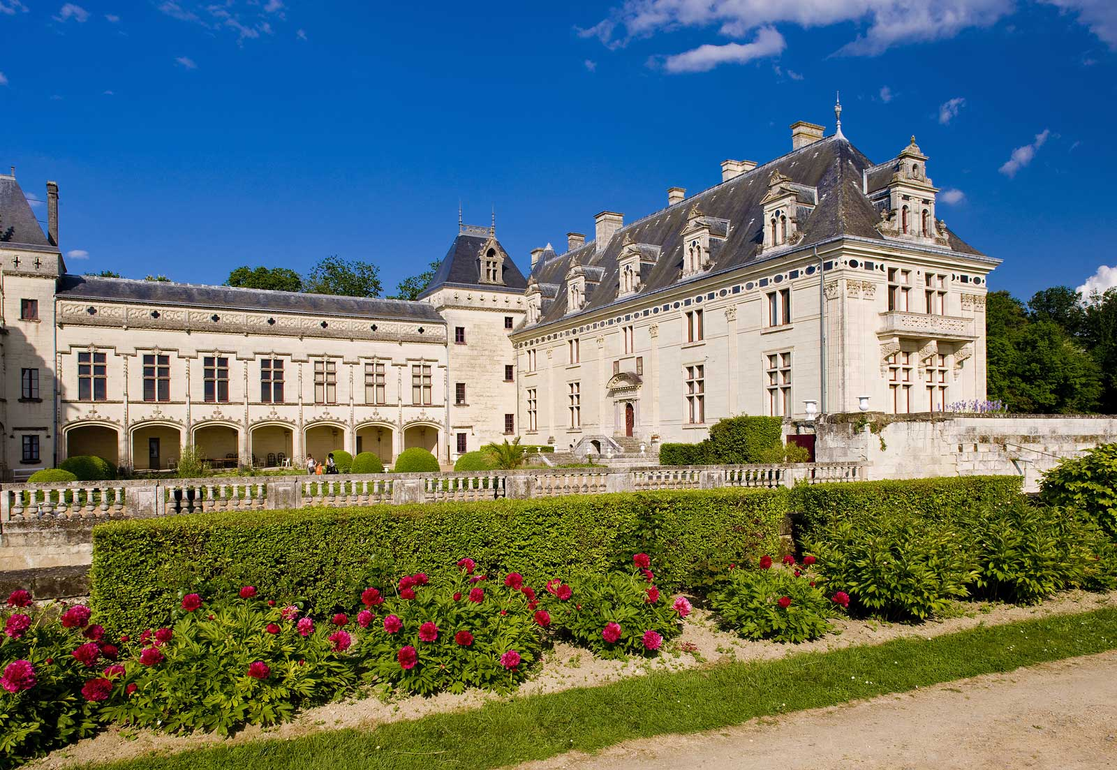 The historic Château de Brézé estate in Saumur, France.