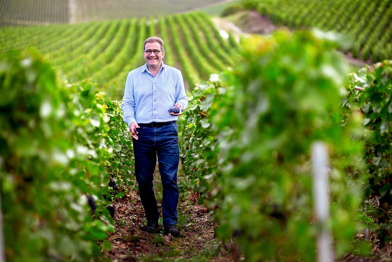 Winemaker Cyril Brun of Charles Heidsieck. ©Charles Heidsieck