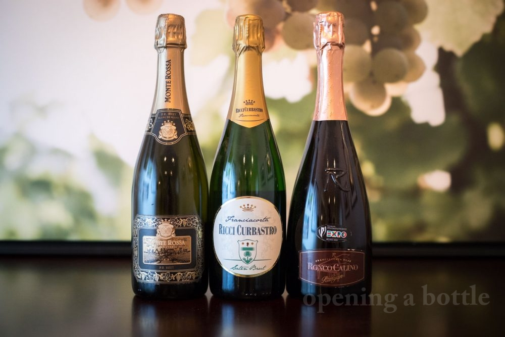 Bottles of Franciacorta. ©Kevin Day/Opening a Bottle
