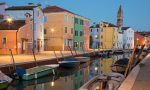 Night falls on Burano in the Venetian Lagoon of Veneto, Italy. ©Kevin Day/Opening a Bottle