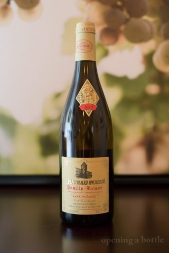 """2016 Château Fuissé """"Les Combettes""""Pouilly-Fuissé ©Kevin Day/Opening a Bottle"""