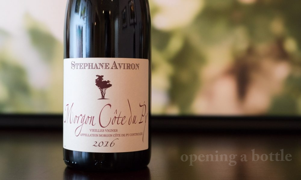 2016 Stéphane Aviron Morgon Côte du Py Vielles Vignes ©Kevin Day/Opening a Bottle