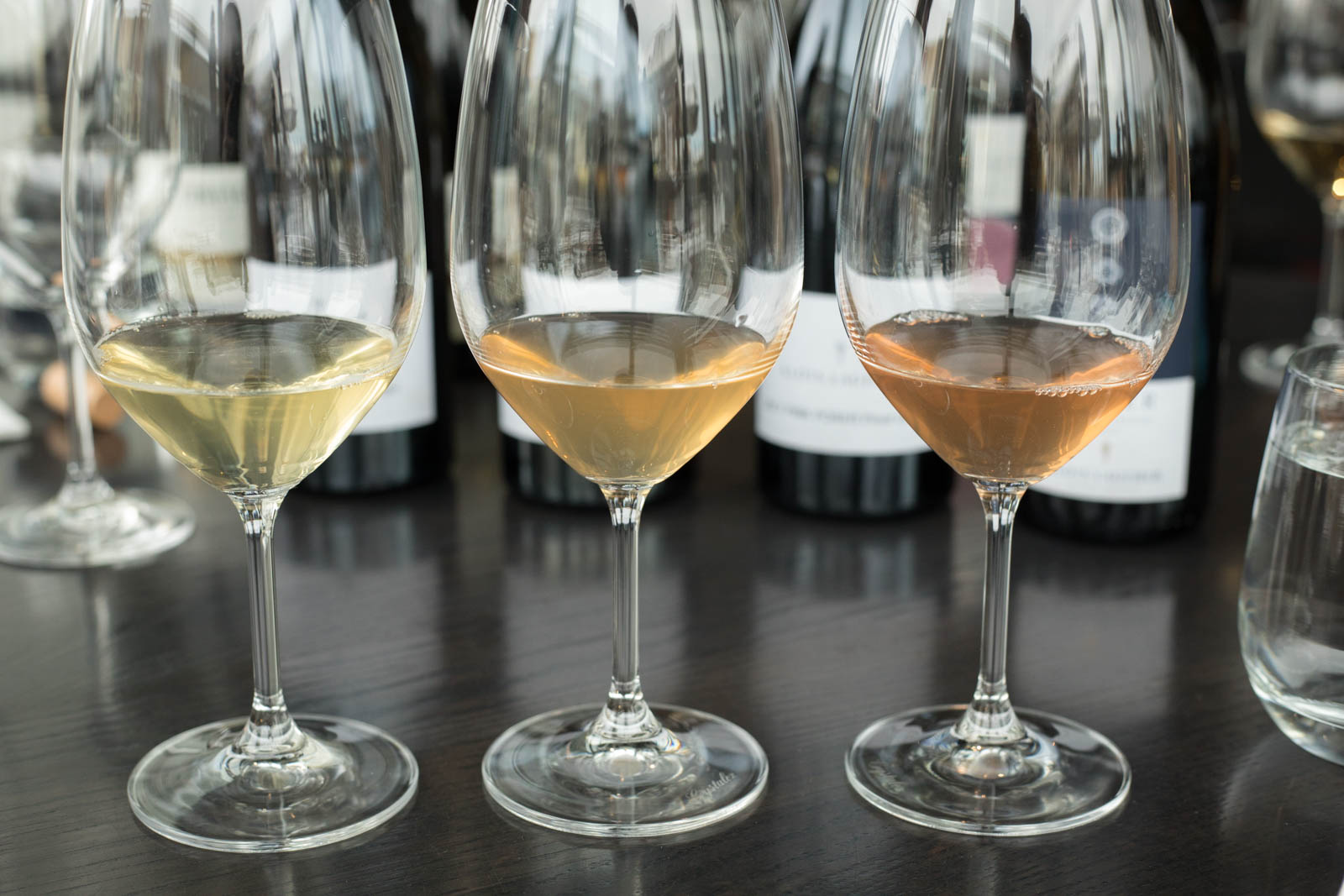 Three different Pinot Grigio from Alois Lageder. ©Kevin Day/Opening a Bottle