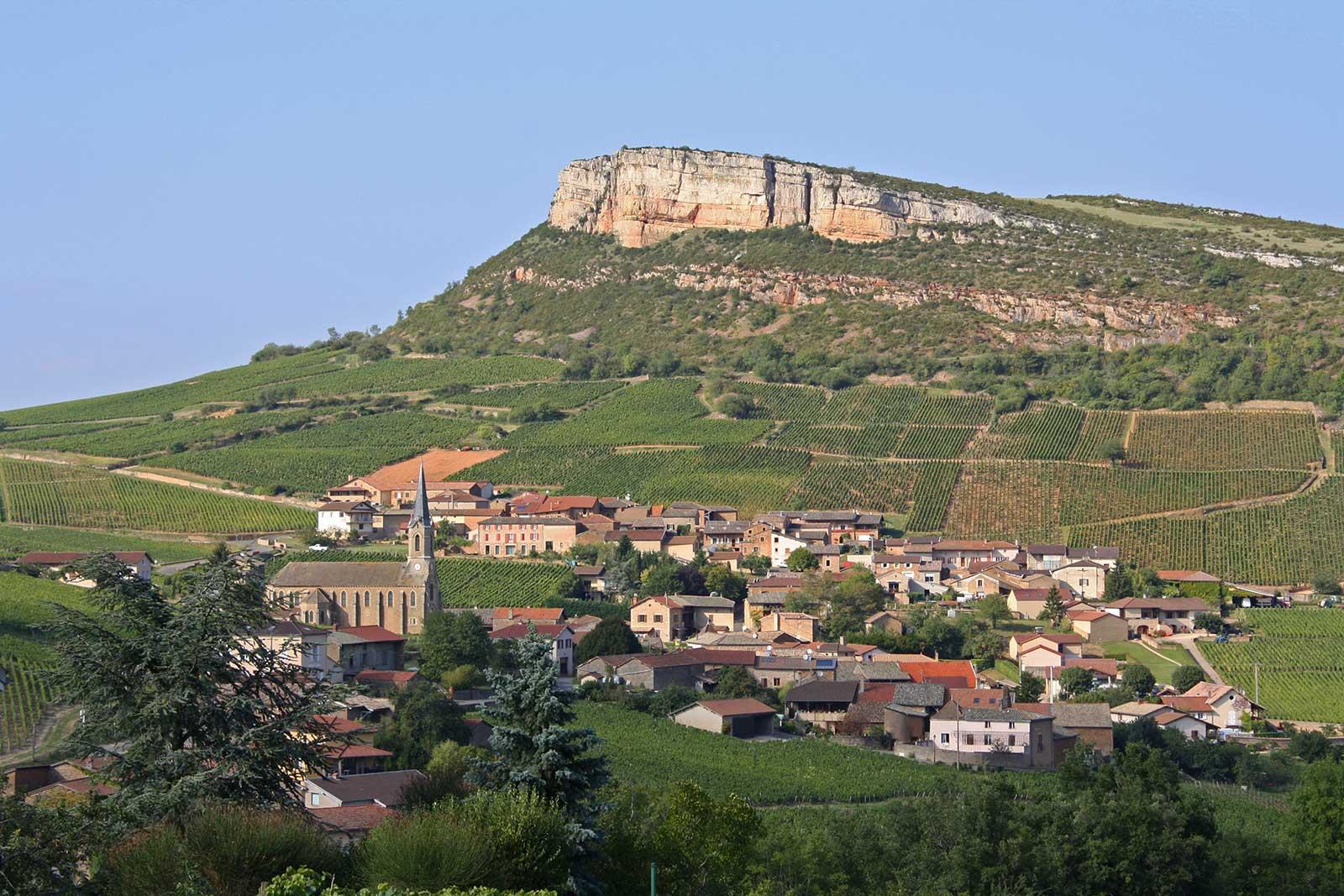The scenic countryside of Pouilly-Fuissé. ©Frederick Wildman/Château Fuissé
