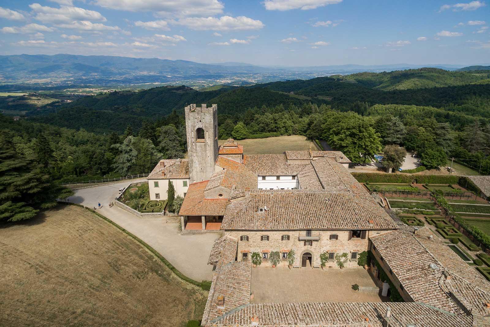 Badia a Coltibuono's famous abbey. ©Badia a Coltibuono