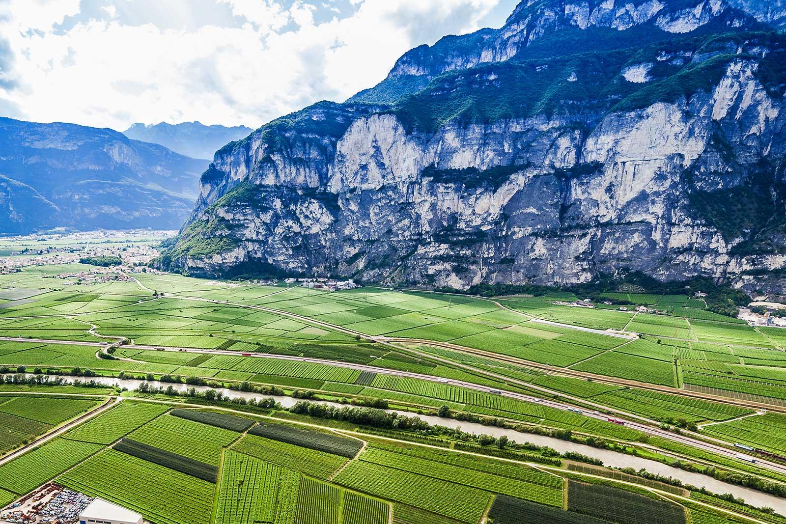The Campo Rotaliano, Trentino-Alto Adige, Italy.