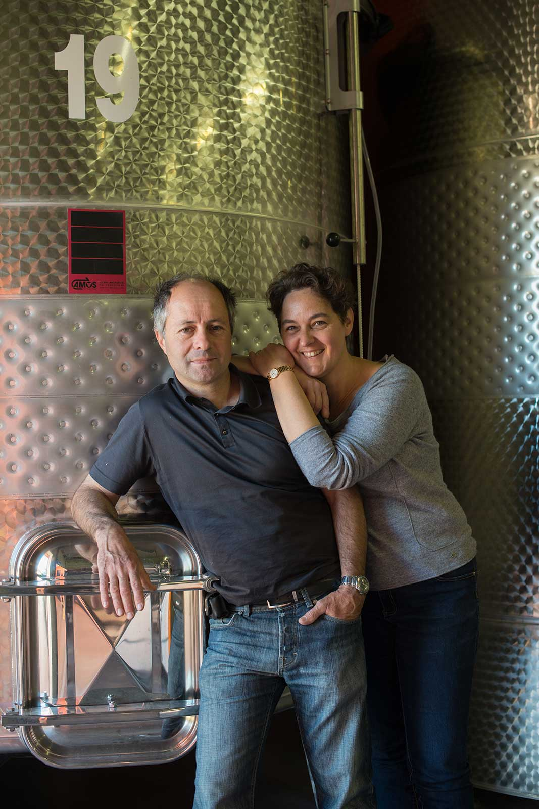 Winemakers Anne Gros & Jean-Paul Tollot originally hail from Burgundy and continue to produce wines from there as well. ©Domaine Anne Gros & Jean-Paul Tollot