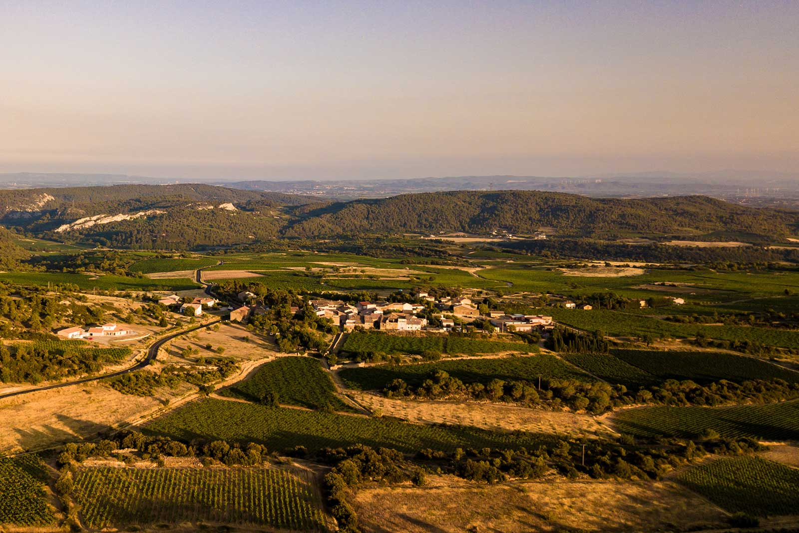 An overview of eastern Minervois near Cazelles, France. ©Domaine Anne Gros & Jean-Paul Tollot