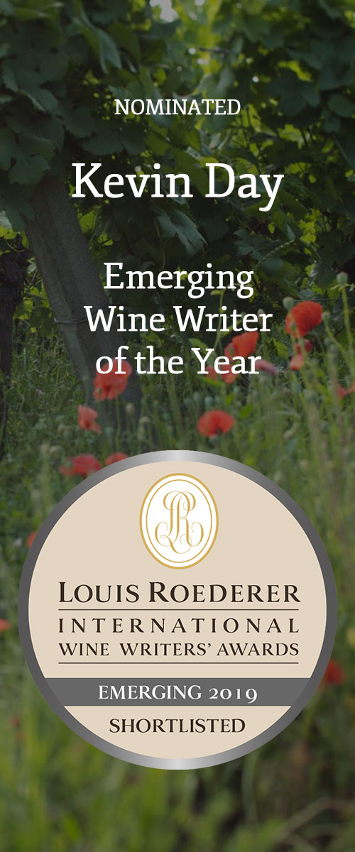 Kevin Day, Emerging Wine Writer of the Year nominee, Louis Roederer International Wine Writers' Awards 2019