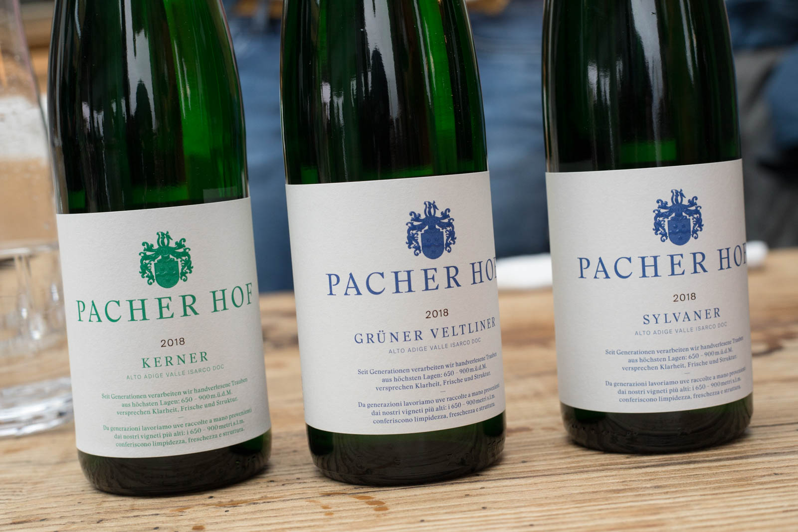 The wines of Pacherhof. ©Kevin Day/Opening a Bottle