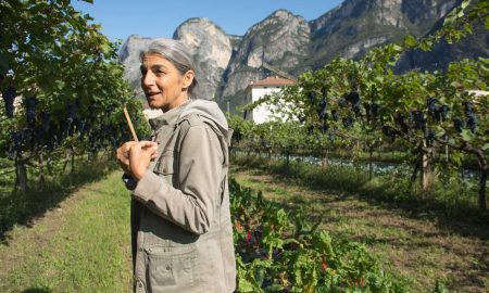 Elisabetta Foradori describes the importance of genetic diversity in the vineyard at Foradori. ©Kevin Day/Opening a Bottle
