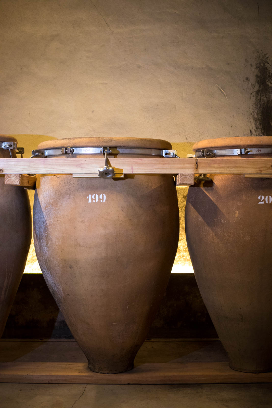 In the cellar at Foradori, amphora await the 2019 vintage. ©Kevin Day/Opening a Bottle