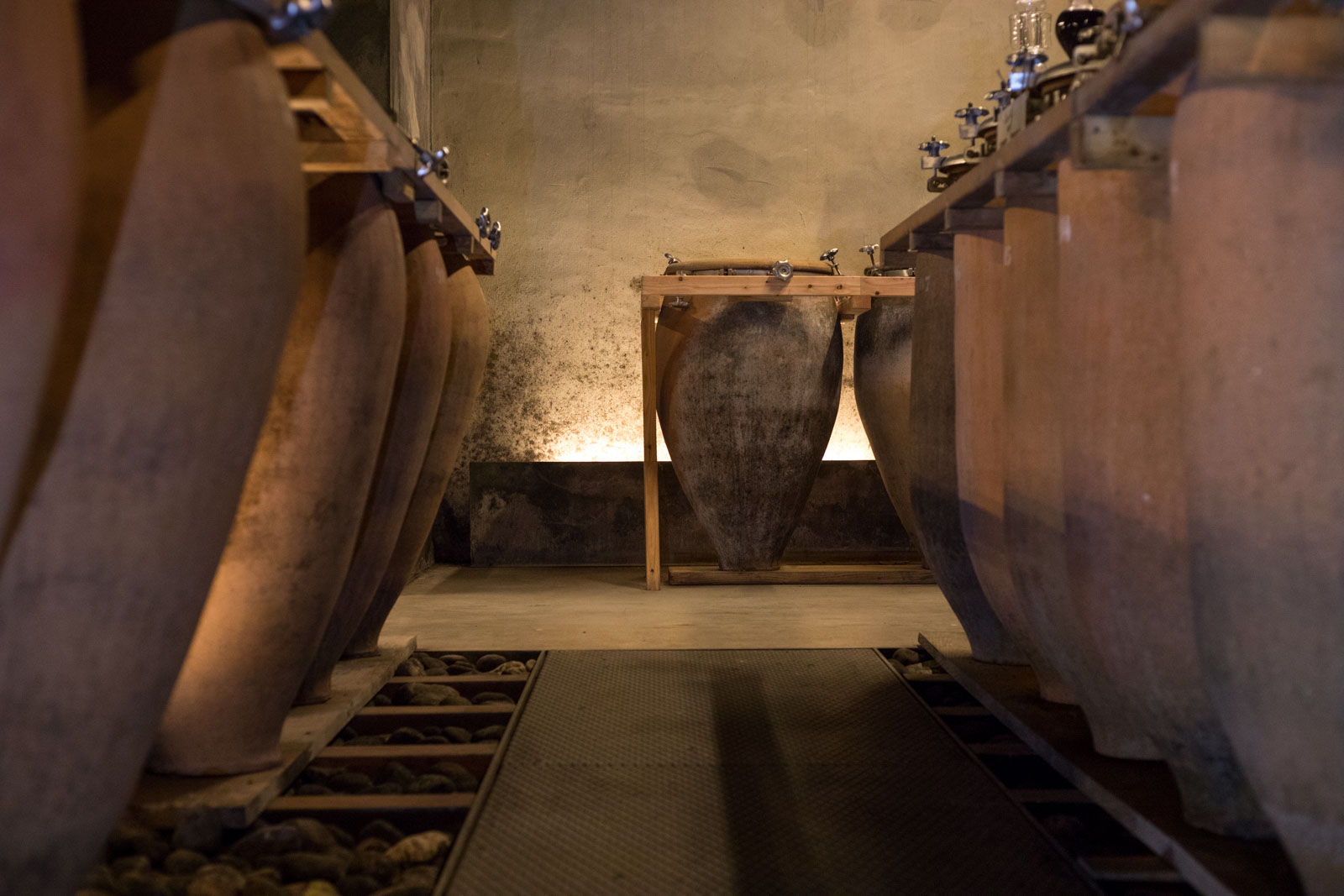 In the cellar at Foradori. ©Kevin Day/Opening a Bottle