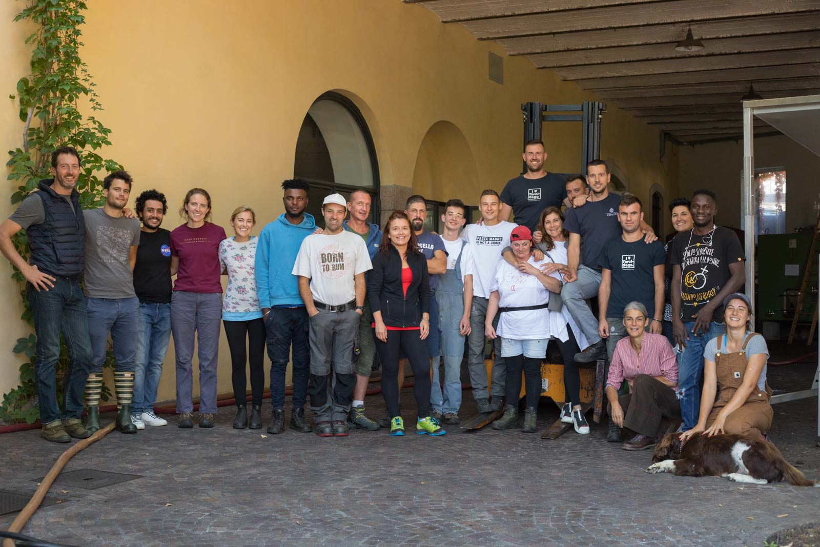 The 2019 harvest crew and staff at Foradori — taken in early September. ©Kevin Day/Opening a Bottle