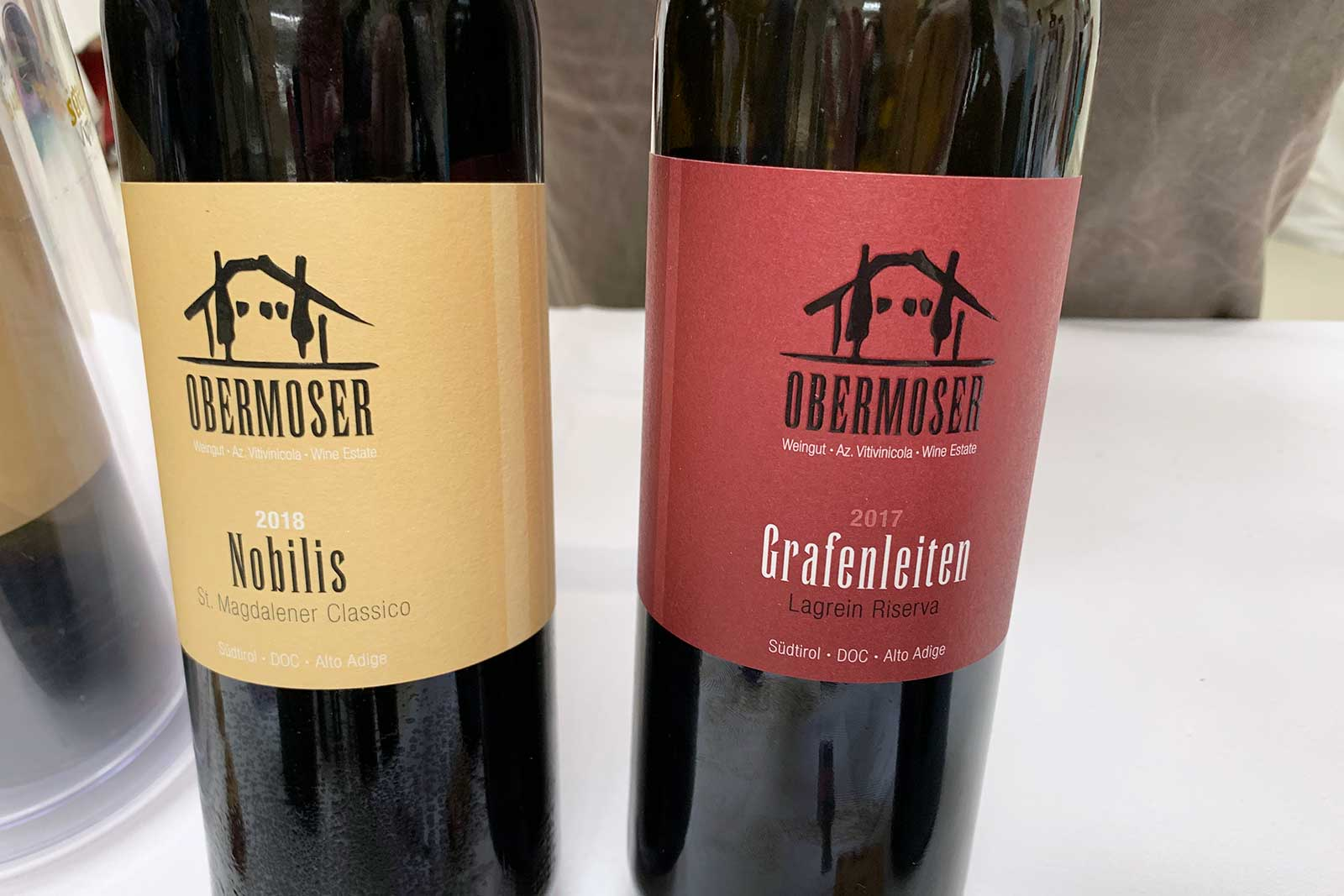 The wines of Obermoser, a specialist in Schiava. ©Kevin Day/Opening a Bottle