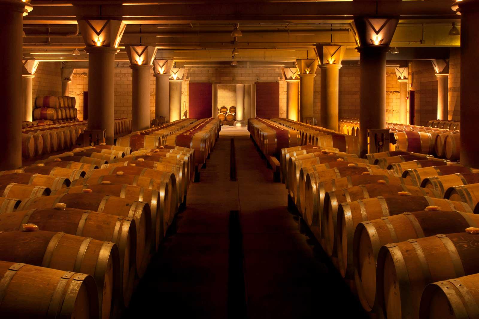 Inside the Dierberg Estate/Star Lane Vineyard winery in Santa Barbara County, California. ©Kirk Irwin