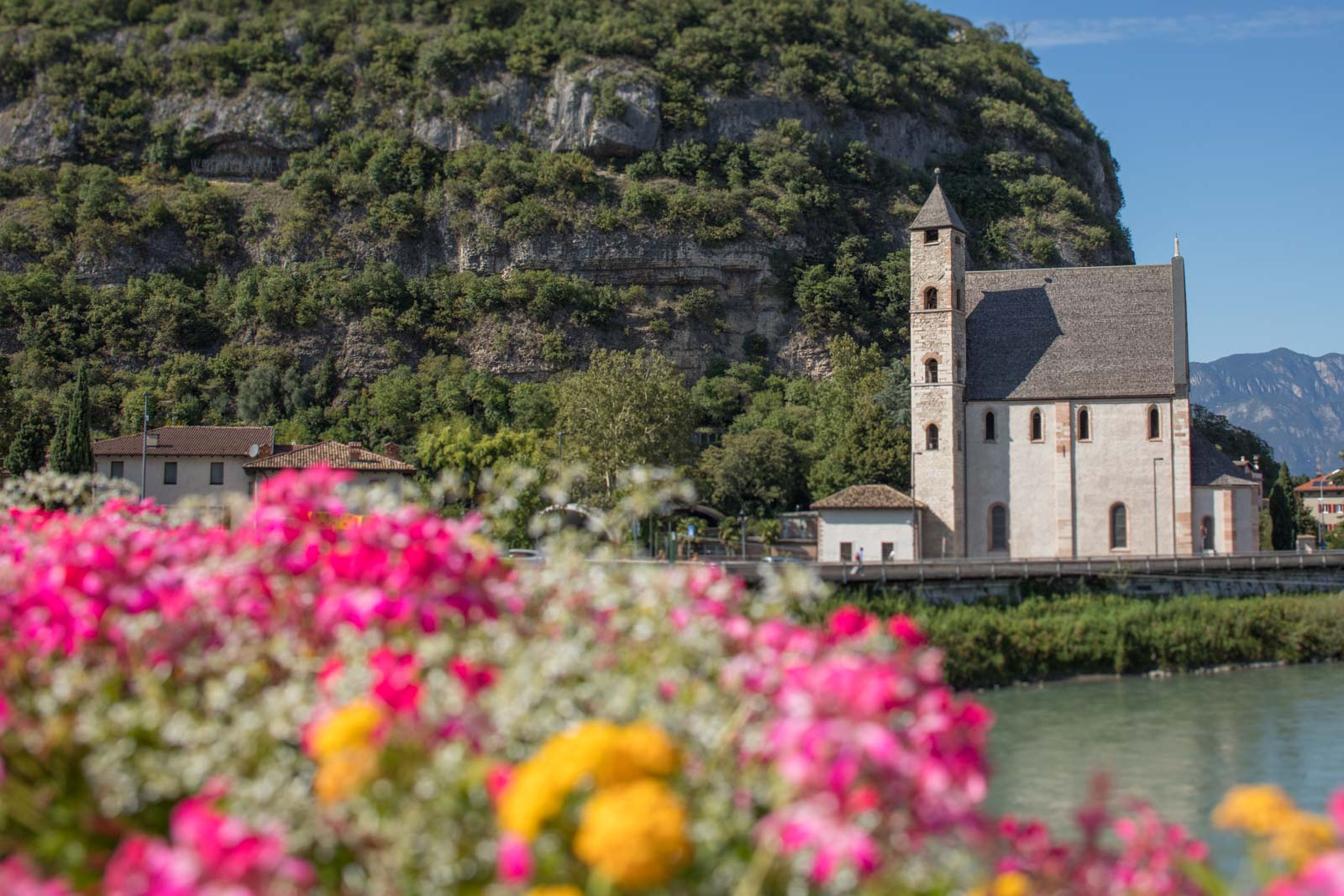 Chiesa di Sant'Apollinare along the Adige River in Trento, Italy ... one of many pleasant sights. ©Kevin Day/Opening a Bottle