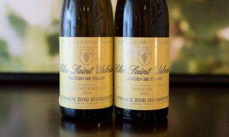 Two of the wines from Zind-Humbrecht ©Kevin Day/Opening a Bottle