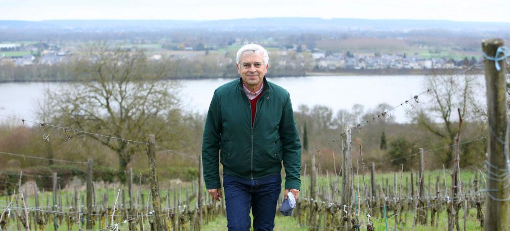 Vigneron Philippe Vatan of Château Hureau. ©Clay McLachlan of Claypix