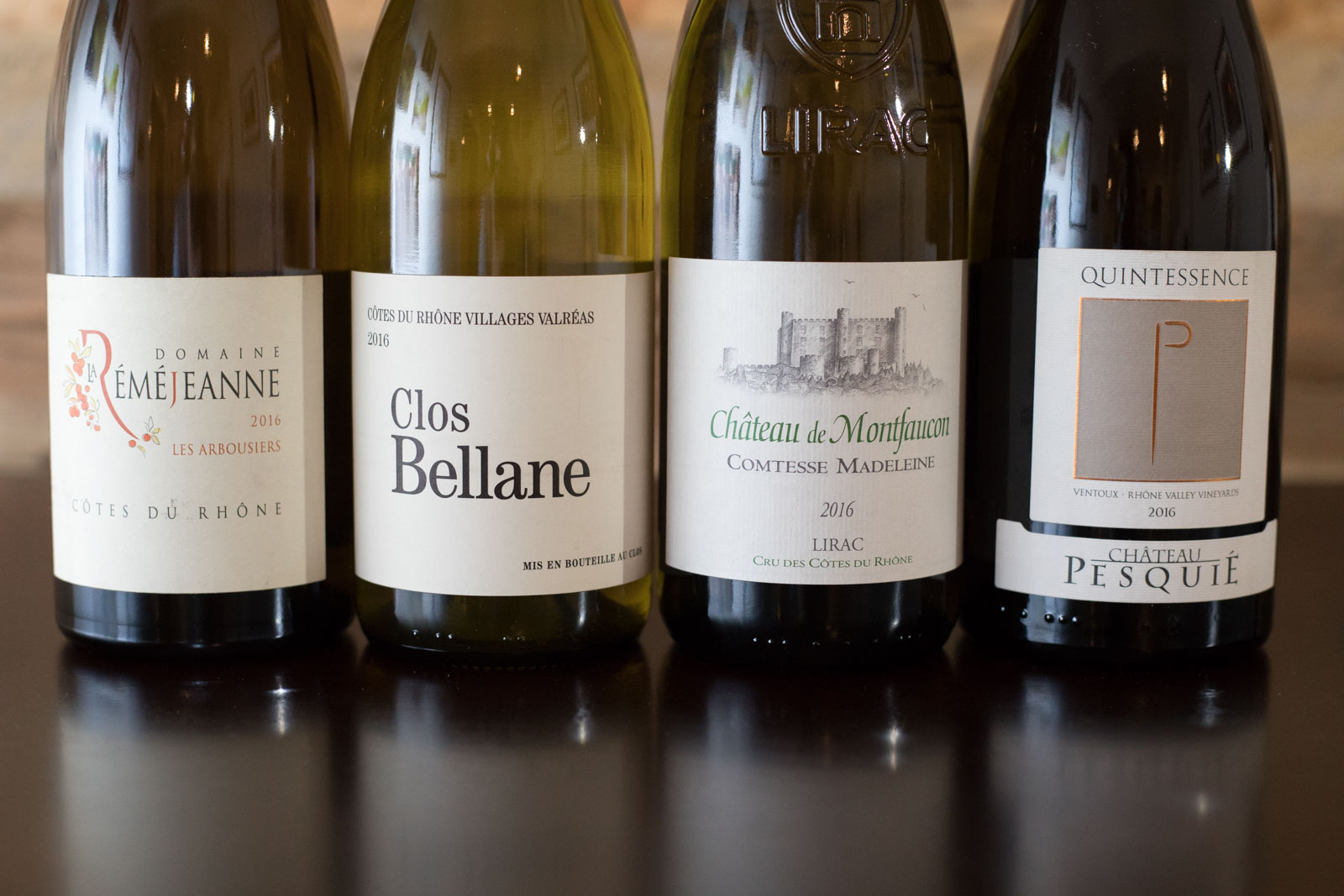 A collection of white Rhône wines. ©Kevin Day/Opening a Bottle