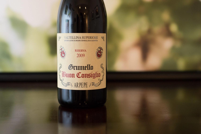 """2009 ARPEPE """"Buon Consiglio"""" Valtellina Superiore Grumello Riserva ©Kevin Day/Opening a Bottle"""