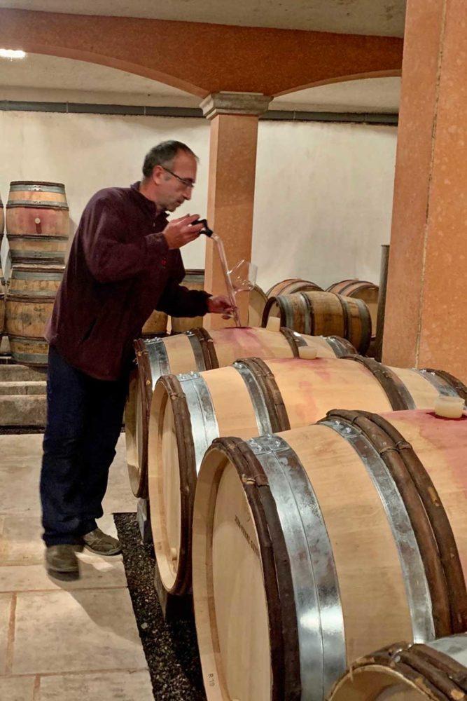 Winemaker Jean-Pierre Guyon in his cellar. ©Weygandt-Metzler
