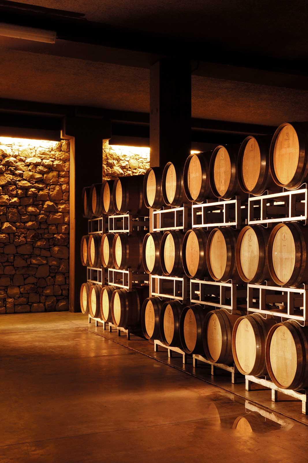 The barrel room at the winery in Franciacorta. ©Winebow