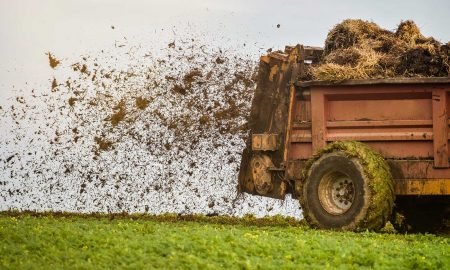 A manure spreader makes an awful goddamn mess
