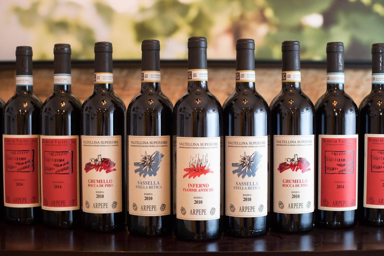 To this day, ARPEPE is the only winery I've bought a case of wine from. Even the normal vintage wines — such as the 2010s pictured here — are structured for long-term aging. ©Kevin Day/Opening a Bottle