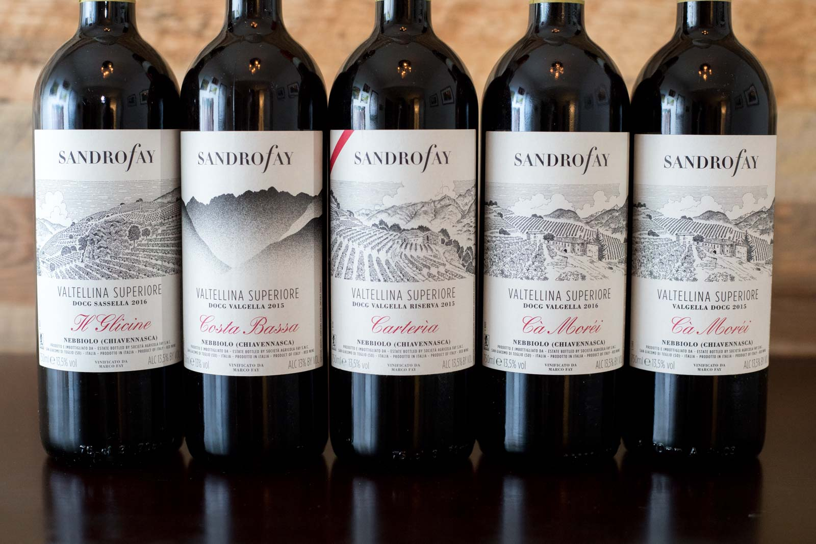 The Valtellina Superiore wines of Sandro Fay. ©Kevin Day/Opening a Bottle