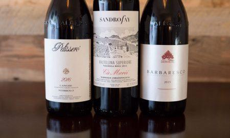 """2016 Pelissero Langhe Nebbiolo / 2016 Sandro Fay """"Ca' Morei"""" Valtellina Superiore Valgella / 2015 Cantina del Pino Barbaresco ©Kevin Day/Opening a Bottle"""