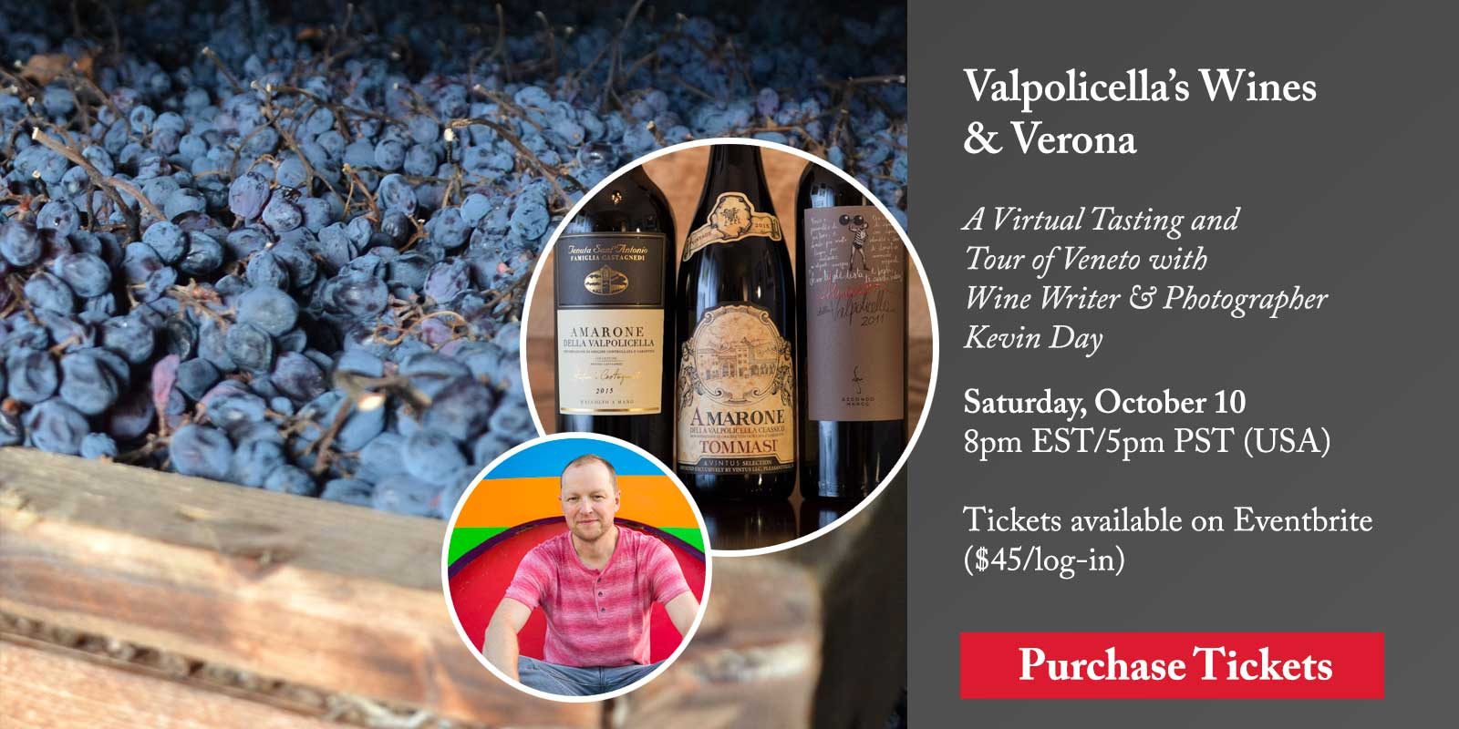 The Wines of Valpolicella with Kevin Day – A Virtual Tasting and Class