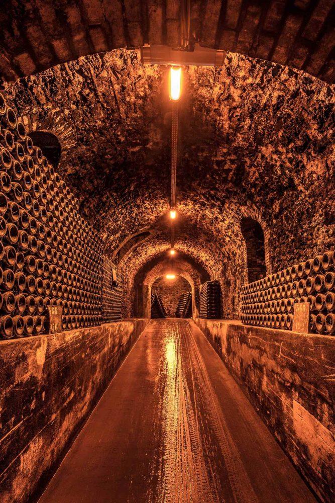 The underground caves in Äy for Billecart-Salmon. ©Billecart-Salmon