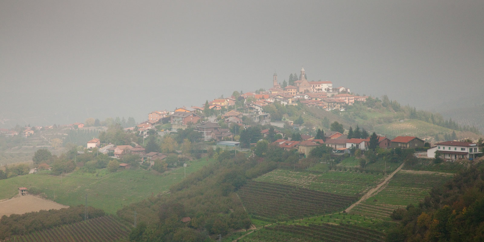 The village of Rodello on the lower slopes of the Langhe Hills. ©Kevin Day/Opening a Bottle
