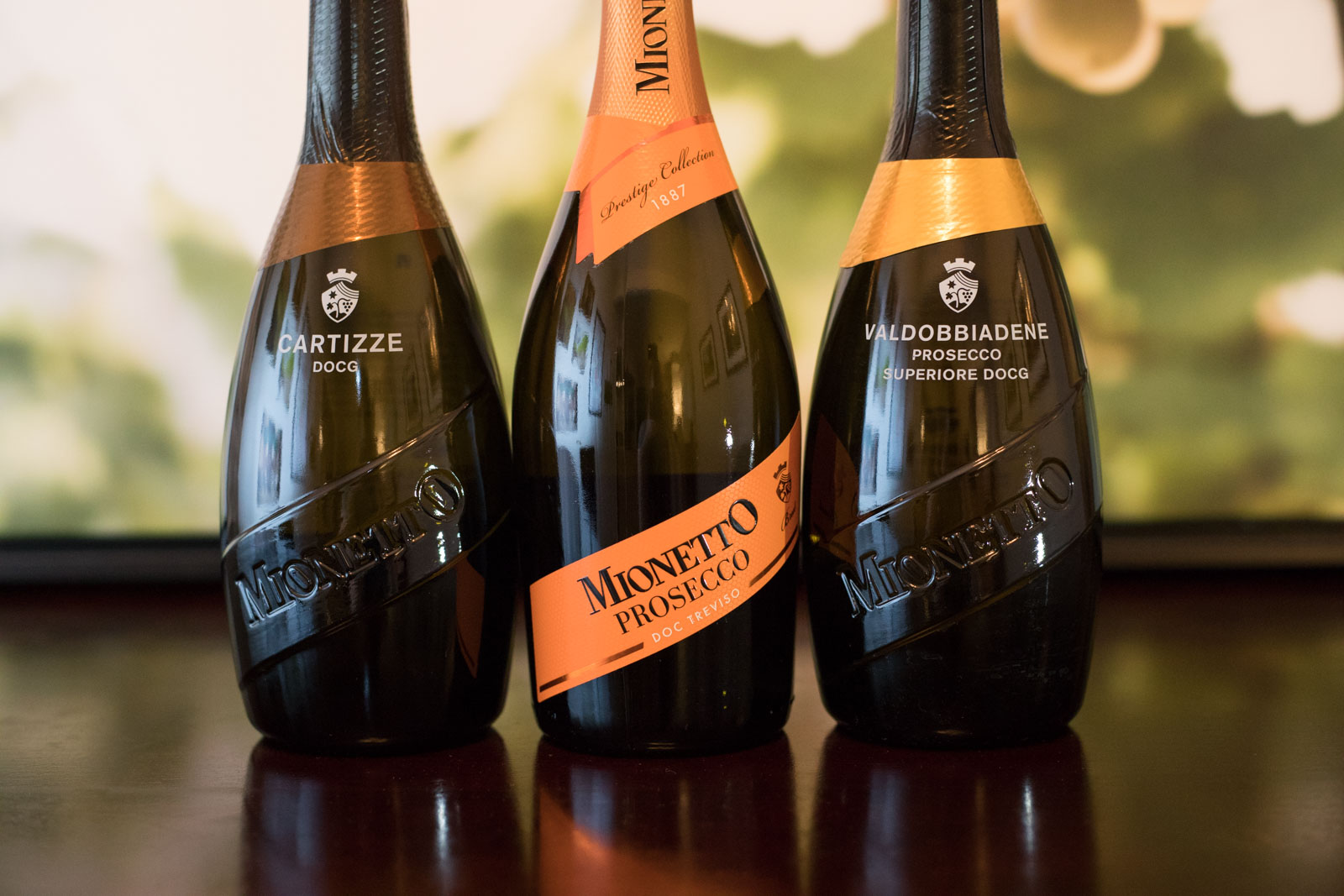 Prosecco wines from Mionetto, a good producer. ©Kevin Day/Opening a Bottle