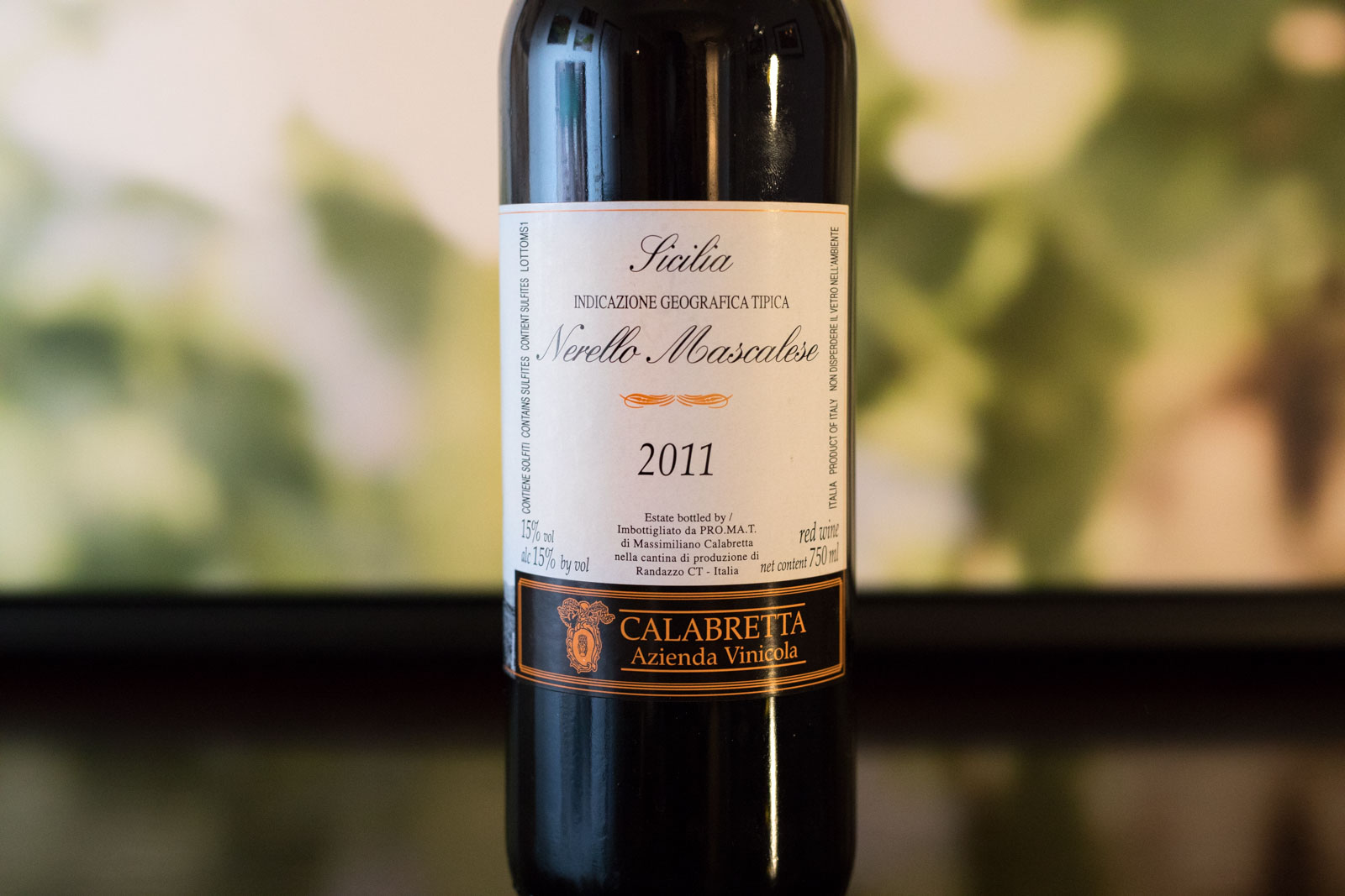 "2011 Calabretta ""Vigne Vecchie"" Nerello Mascalese Terre Siciliane ©Kevin Day/Opening a Bottle"